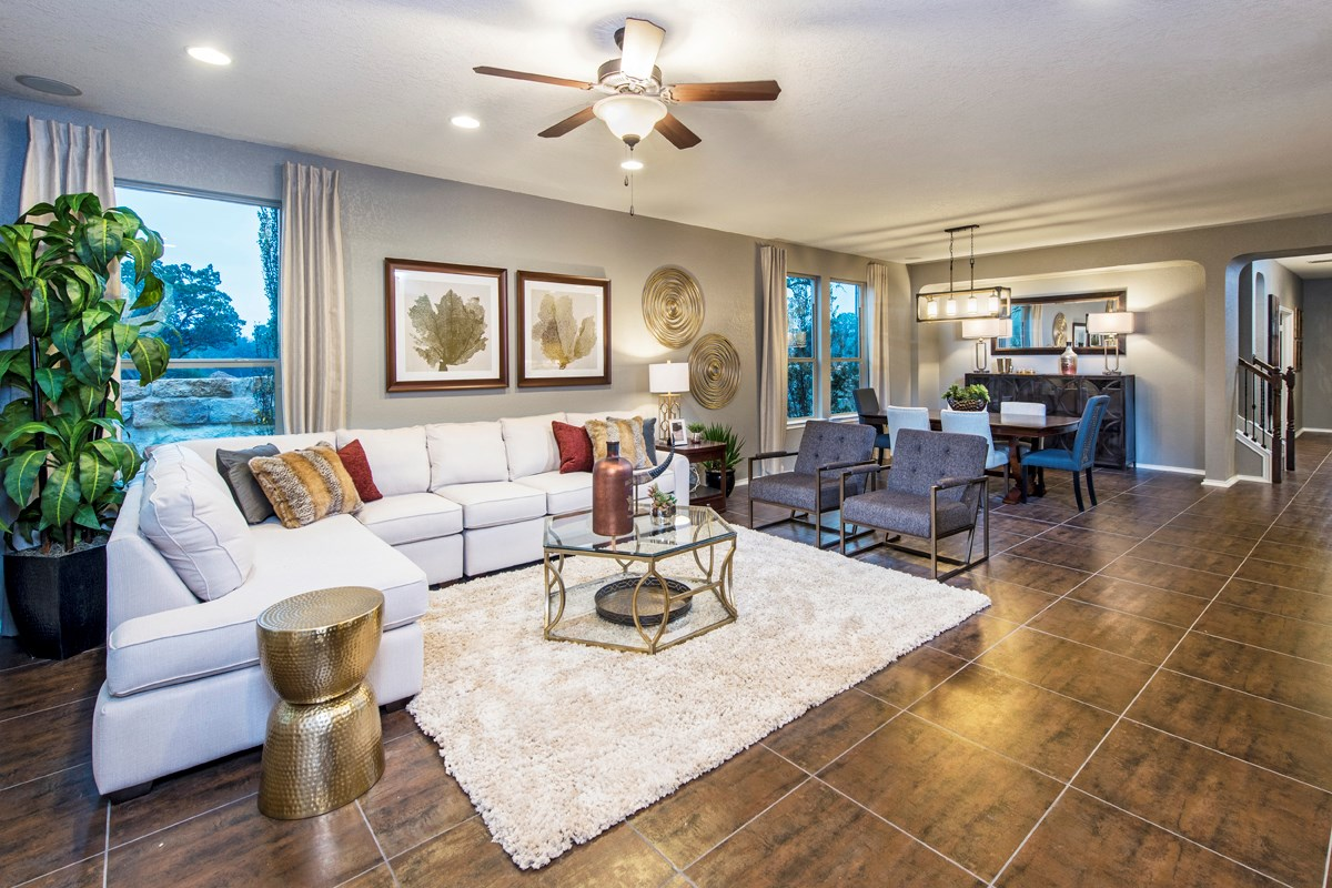 New Homes in Helotes, TX - The Ridge at Bandera The 3417 Living Room