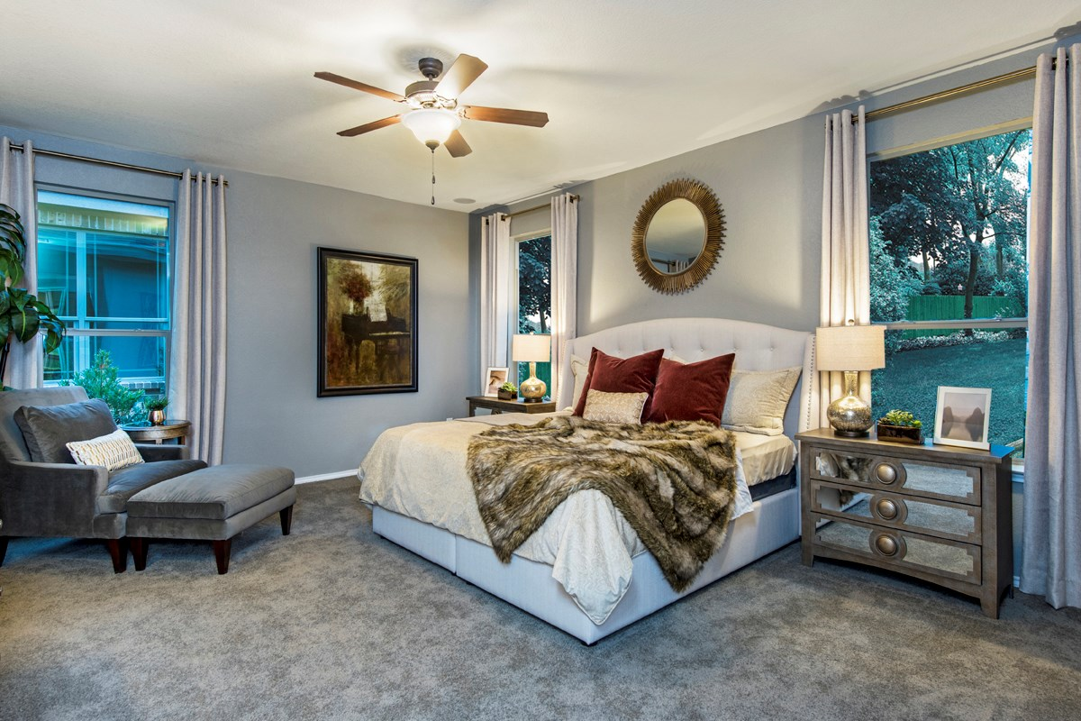 New Homes in Helotes, TX - The Ridge at Bandera The 3417 Master Bedroom