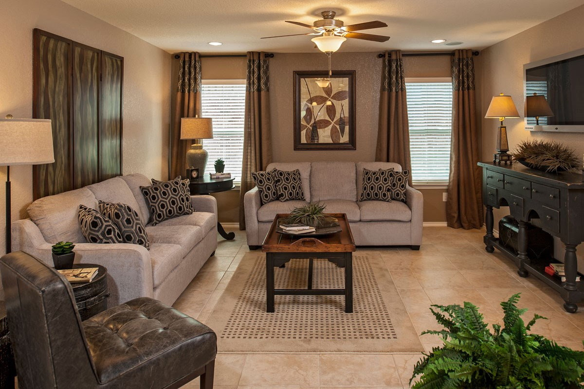 New Homes in Boerne, TX - Trails at Herff Ranch - Sterling Collection The 1647 Great Room