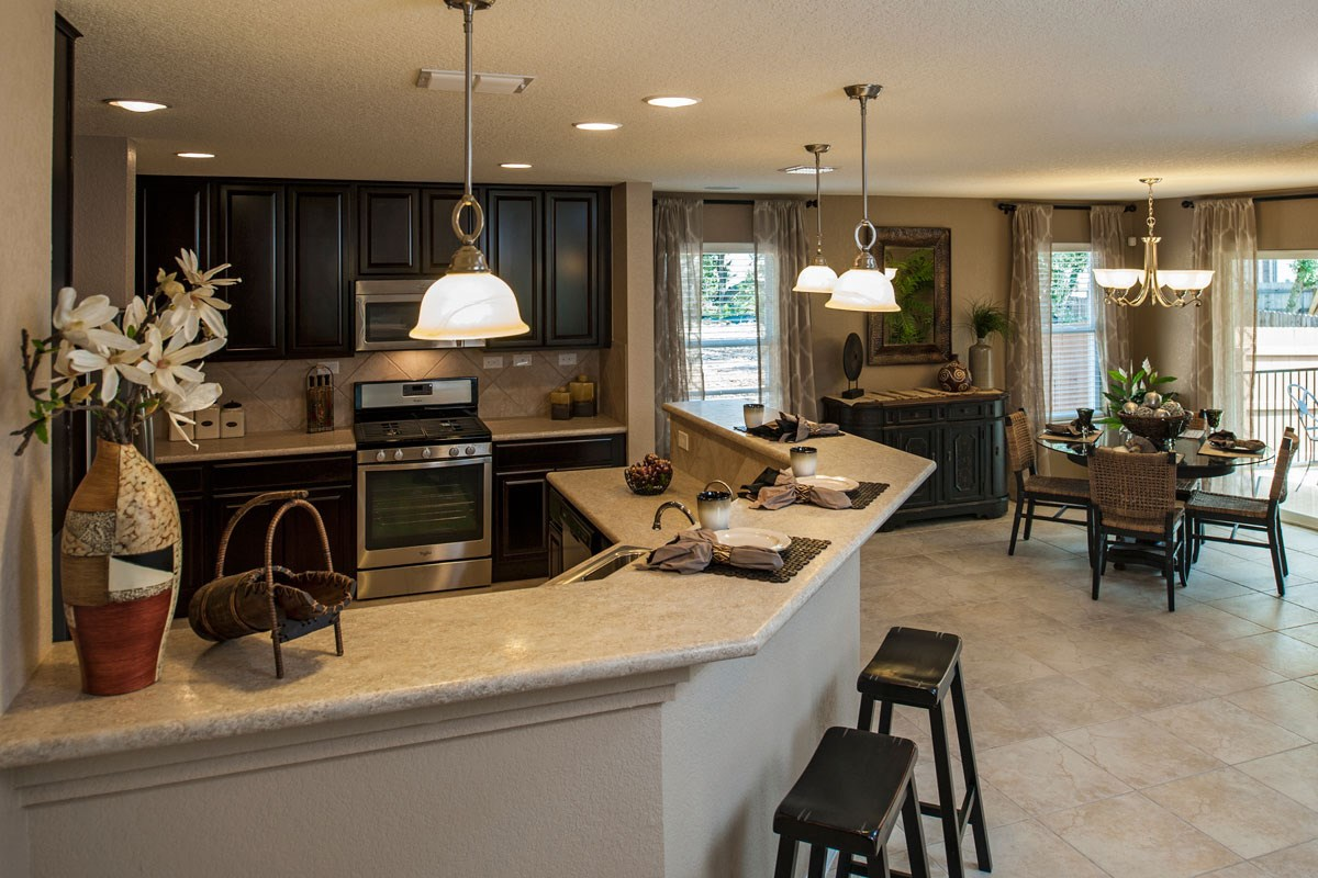 New Homes in Boerne, TX - Trails at Herff Ranch - Sterling Collection The 1647 Kitchen