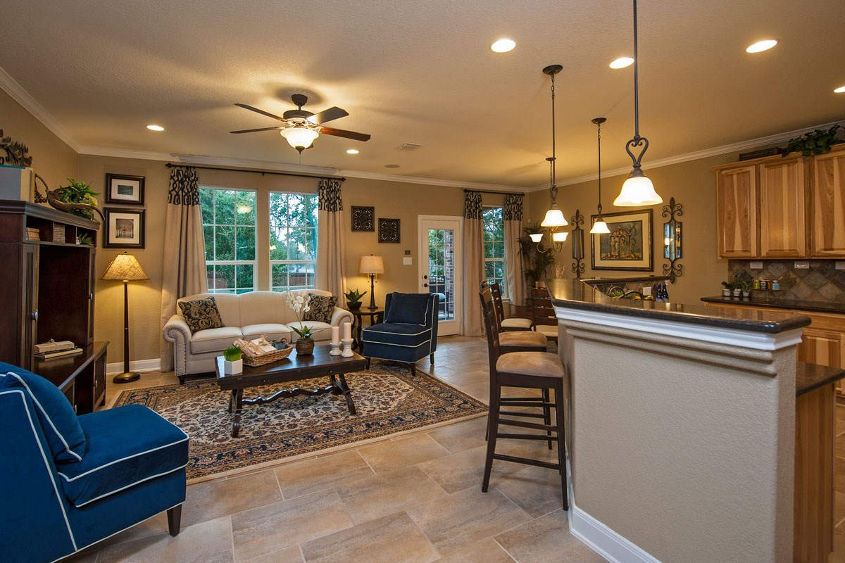 New Homes in Boerne, TX - Trails at Herff Ranch The 2502 Great Room