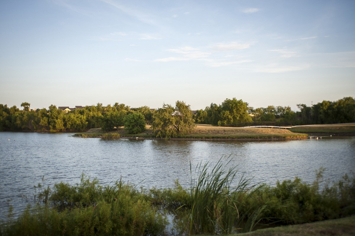 New Homes in San Antonio, TX - Lakeview Community Pond