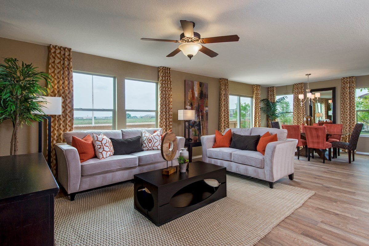 New Homes in New Braunfels, TX - West Village at Creekside - Heritage Collection The 2239 Great Room