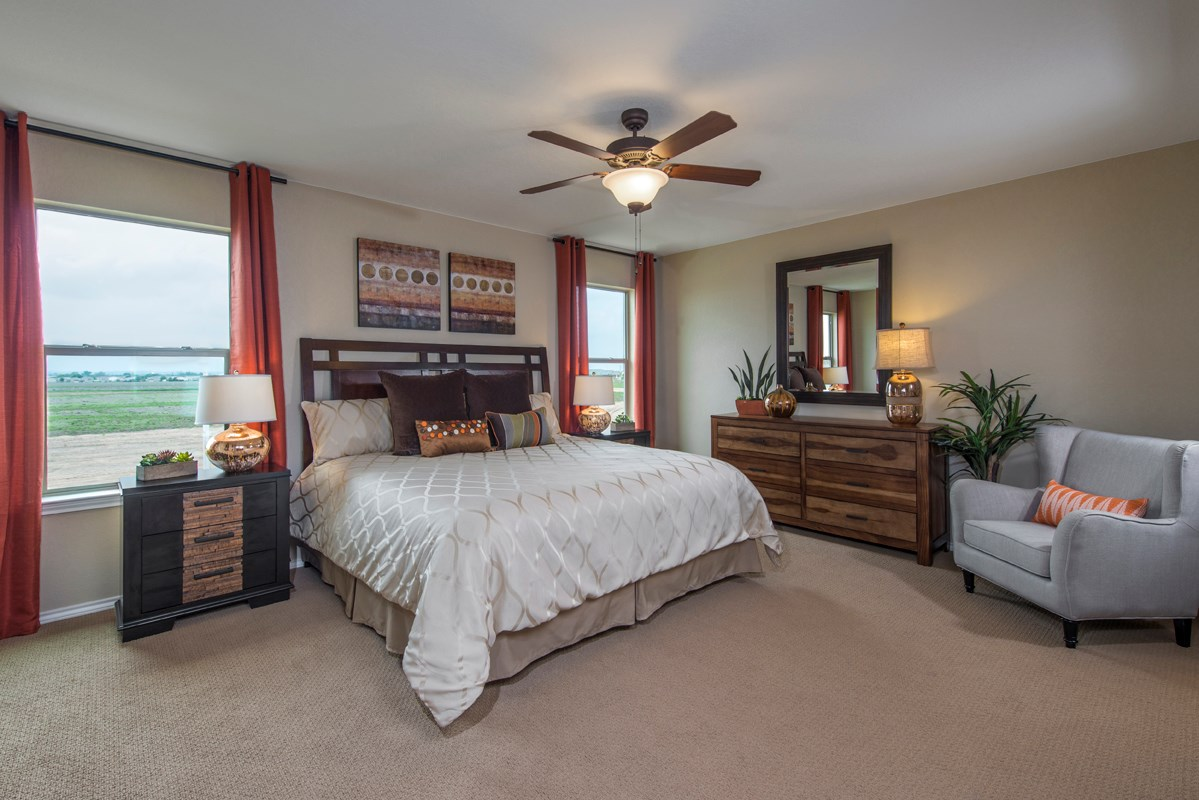 New Homes in New Braunfels, TX - West Village at Creekside - Heritage Collection The 2239 Master Bedroom