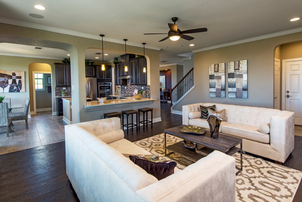 New Homes in New Braunfels, TX - West Village at Creekside - Classic Collection The 3125 Great Room