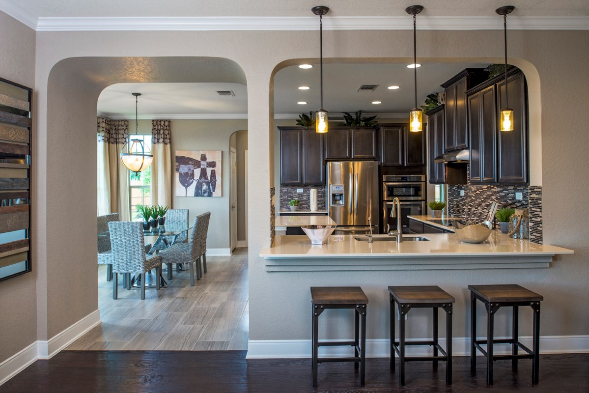 New Homes in San Antonio, TX - Hidden Bluffs at TRP The 3125 Kitchen - As Modeled at West Village at Creekside