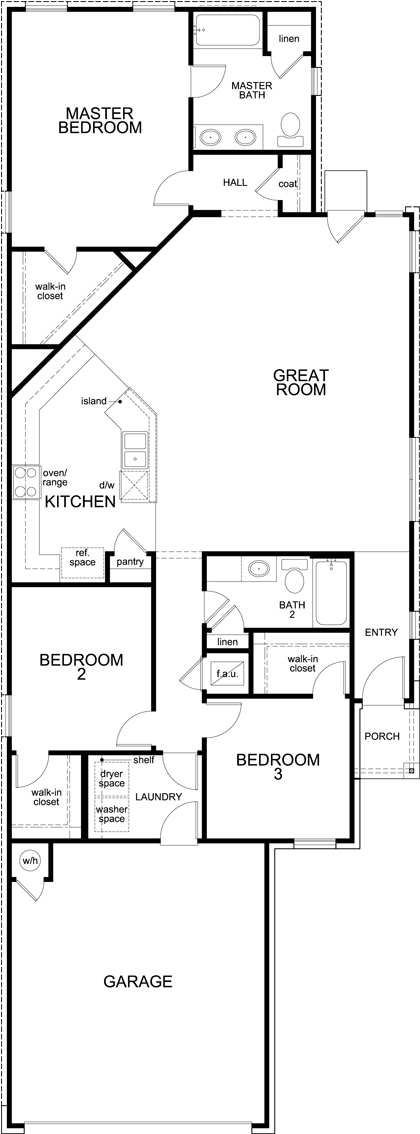 Plan F 1585 New Home Floor Plan In Village Of Sage Meadows By Kb Home
