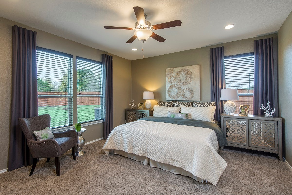 New Homes in Temple, TX - Village of Sage Meadows The A-1965 Master Bedroom