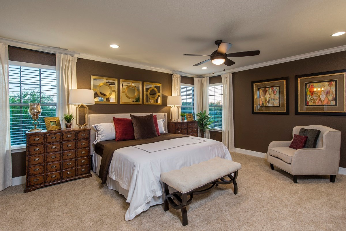 New Homes in Temple, TX - Village of Sage Meadows The F-2708 Master Bedroom