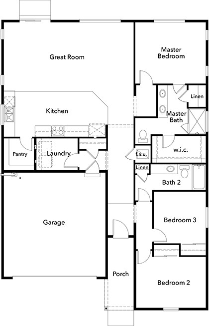 New Homes in Bonney Lake, WA - Plan 1629, First Floor