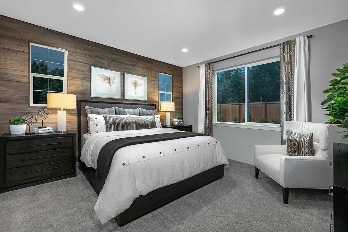 New Homes in Bonney Lake, WA - Falling Water Plan 1857 Master Bedroom
