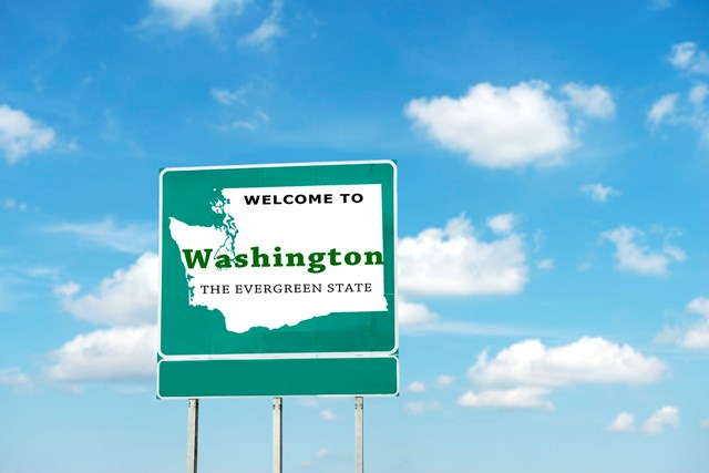 Welcome to Washington sign board
