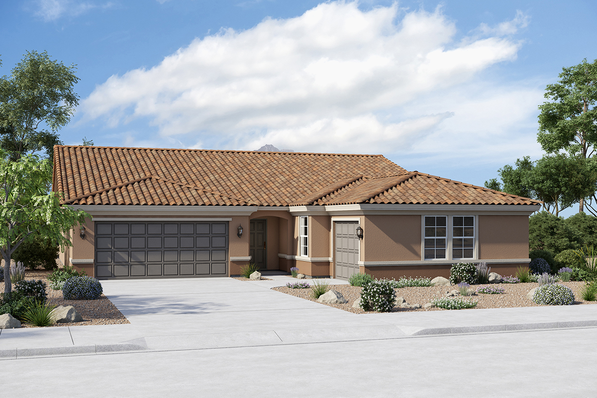 New Homes in Buckeye, AZ - Elevation B (Optional 3rd Car Garage)