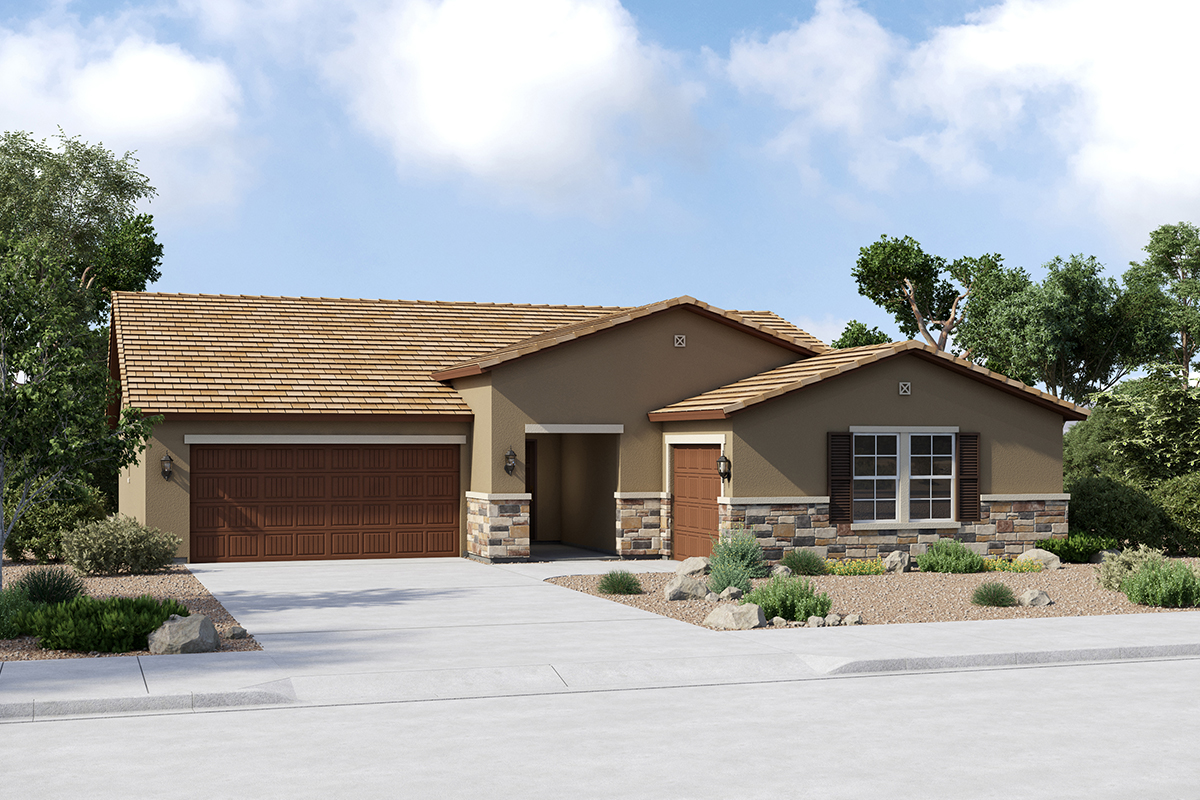 New Homes in Buckeye, AZ - Elevation C (Optional 3rd Car Garage)