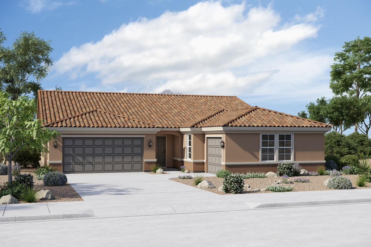 New Homes in Buckeye, AZ - Plan 2301 Elevation B (Option 3rd car garage)