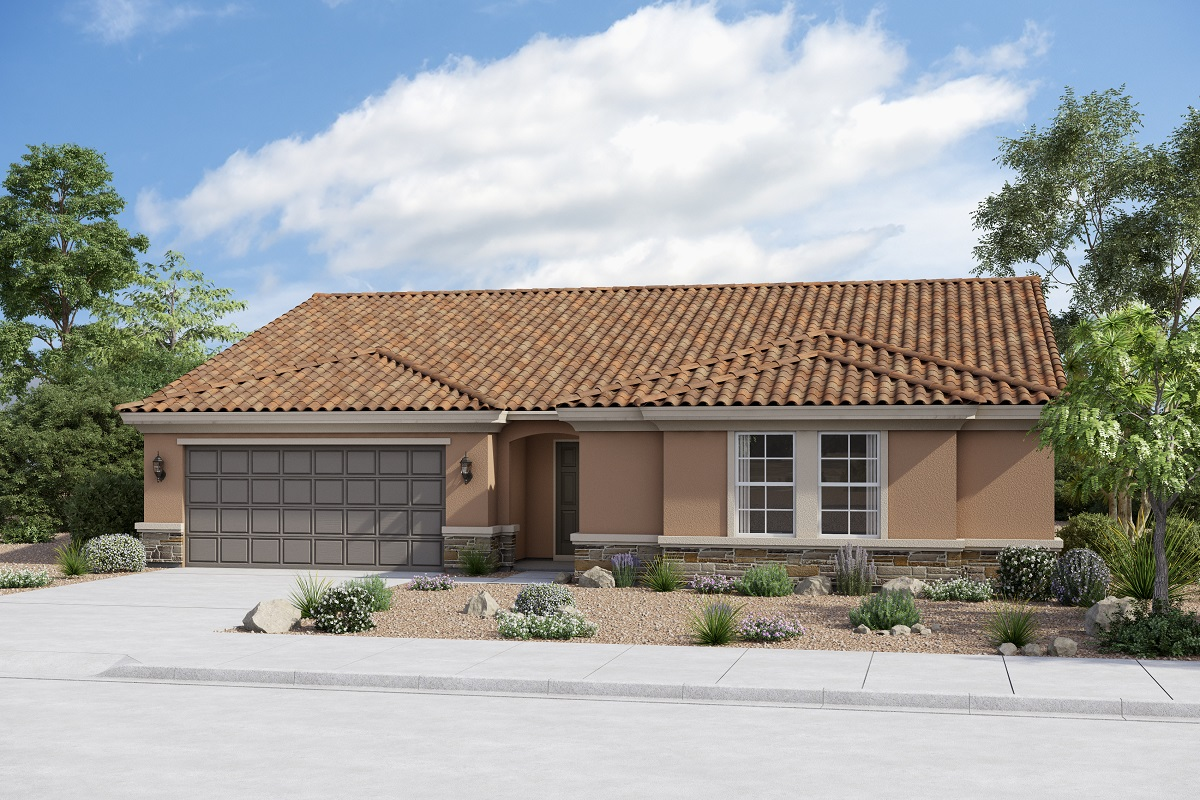 New Homes in Buckeye, AZ - Plan 2301 Elevation B (Option with stone)