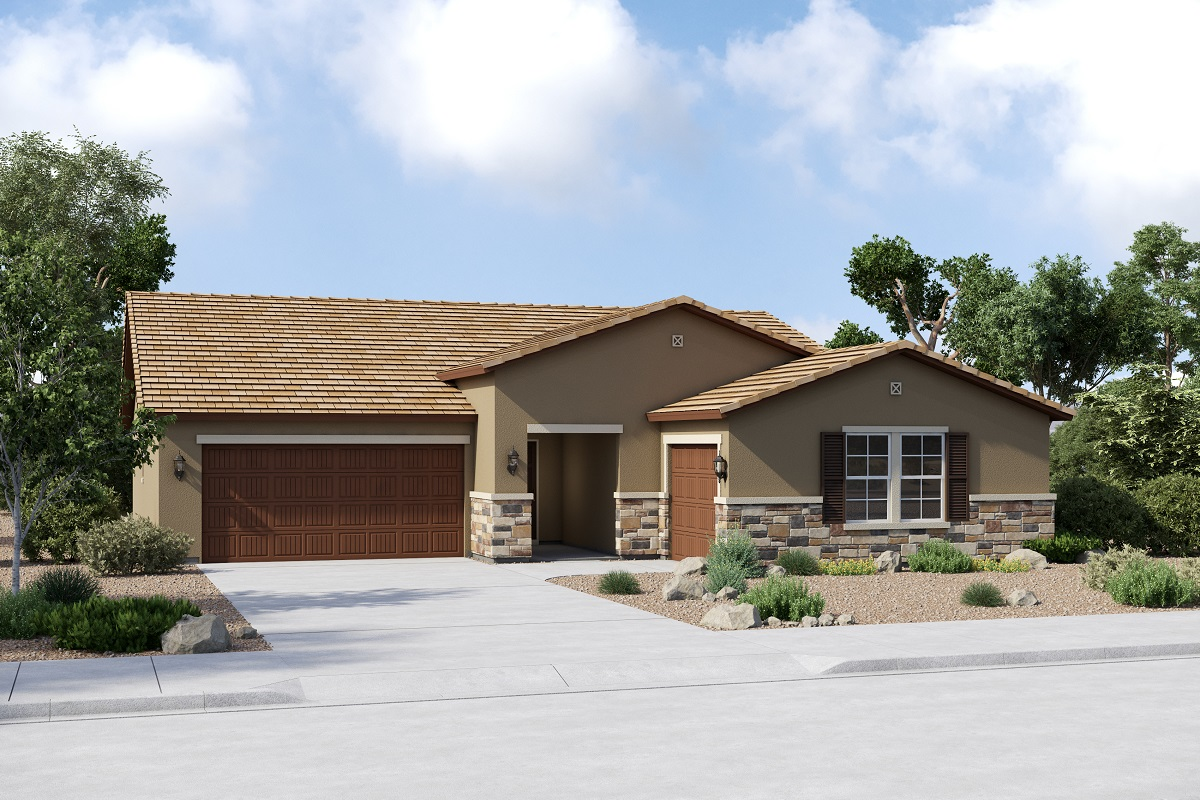 New Homes in Buckeye, AZ - Arroyo Seco Plan 2301 Elevation C (Option 3rd car garage)