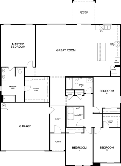 New Homes in Buckeye, AZ - Plan 2301, First Floor