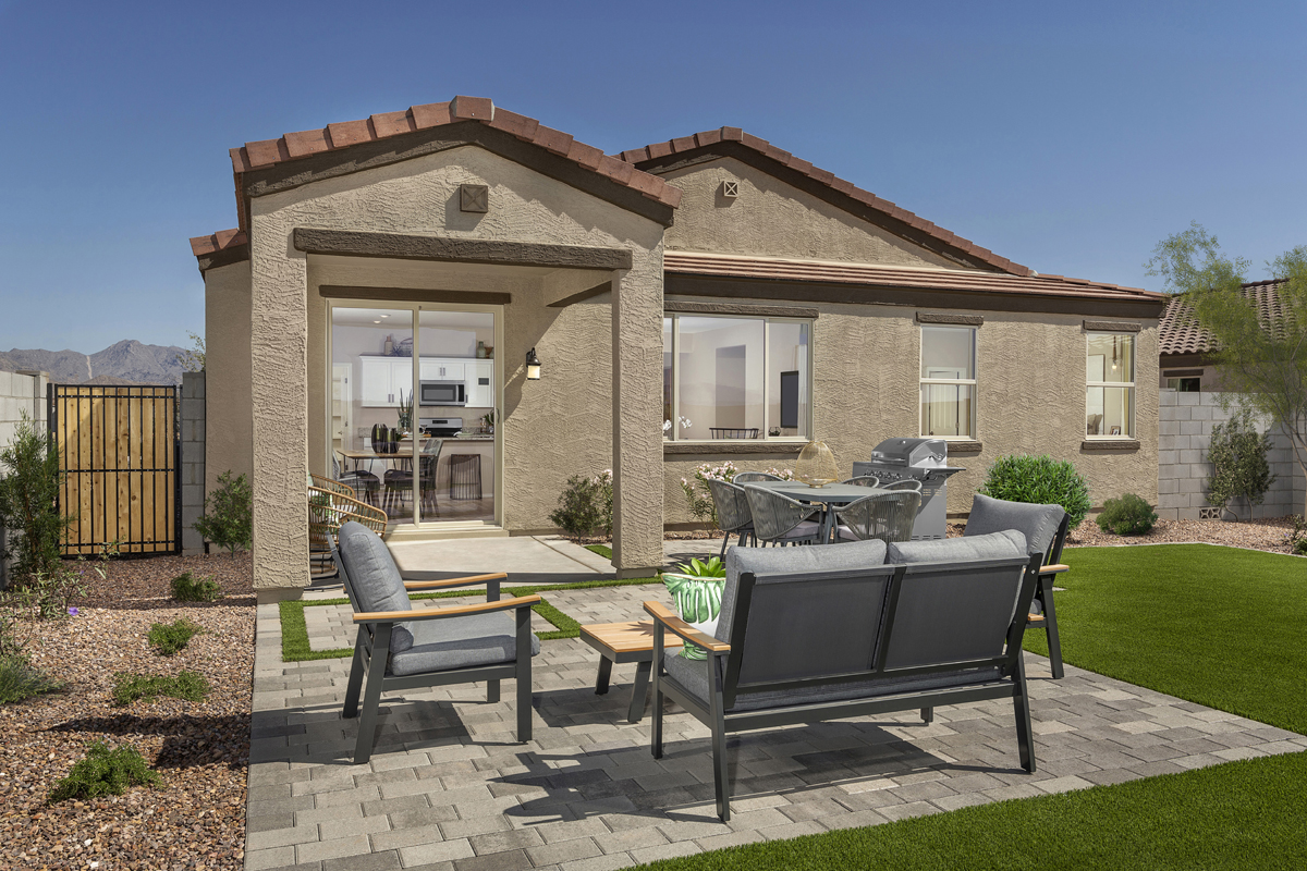 New Homes in Buckeye, AZ - Blue Horizons Enclaves Plan 1612 Patio