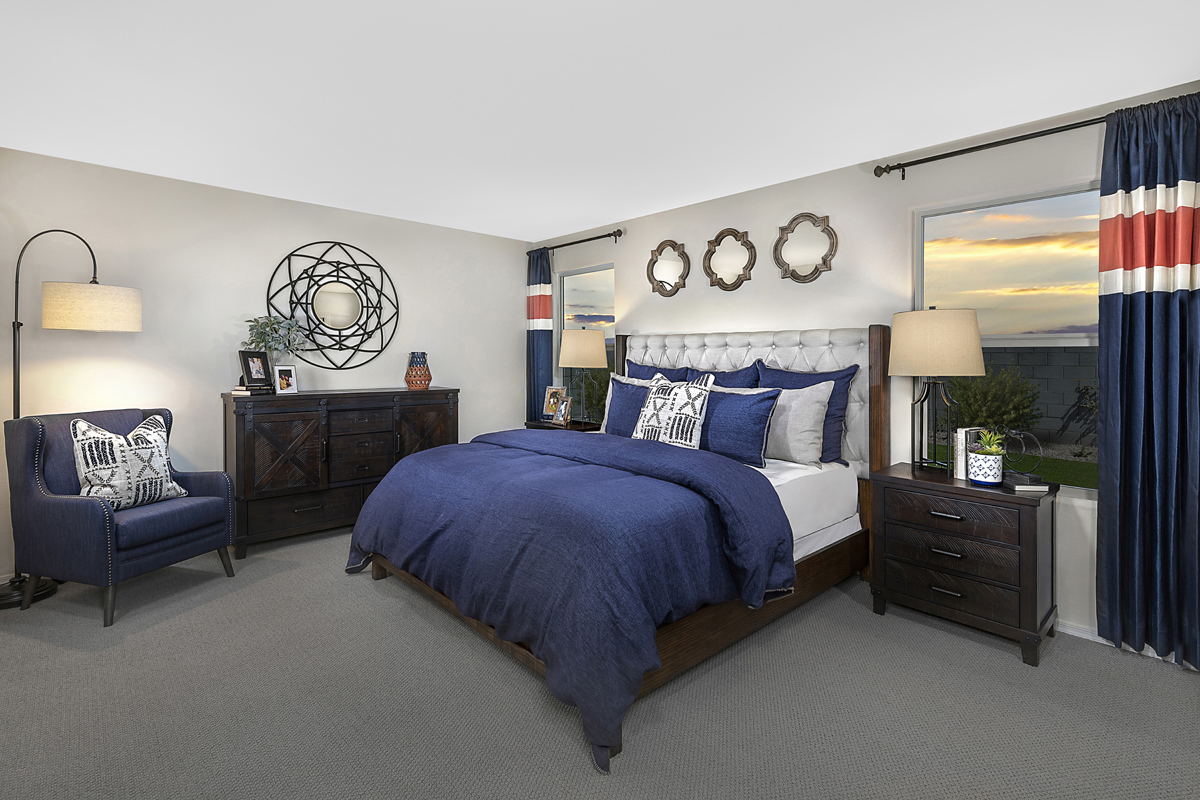 New Homes in Buckeye, AZ - Blue Horizons Traditions Plan 1849 Master Bedroom