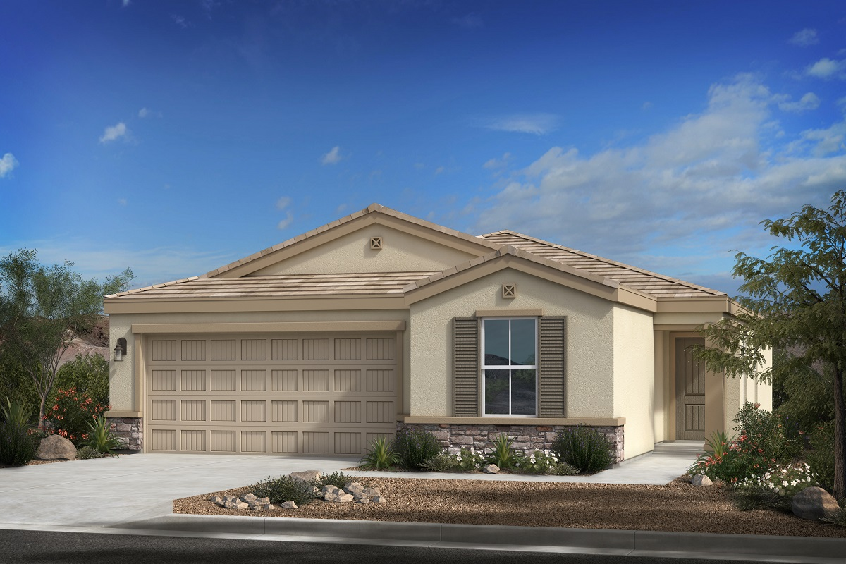New Homes in Buckeye, AZ - Blue Horizons Traditions Plan 1439 Elevation C