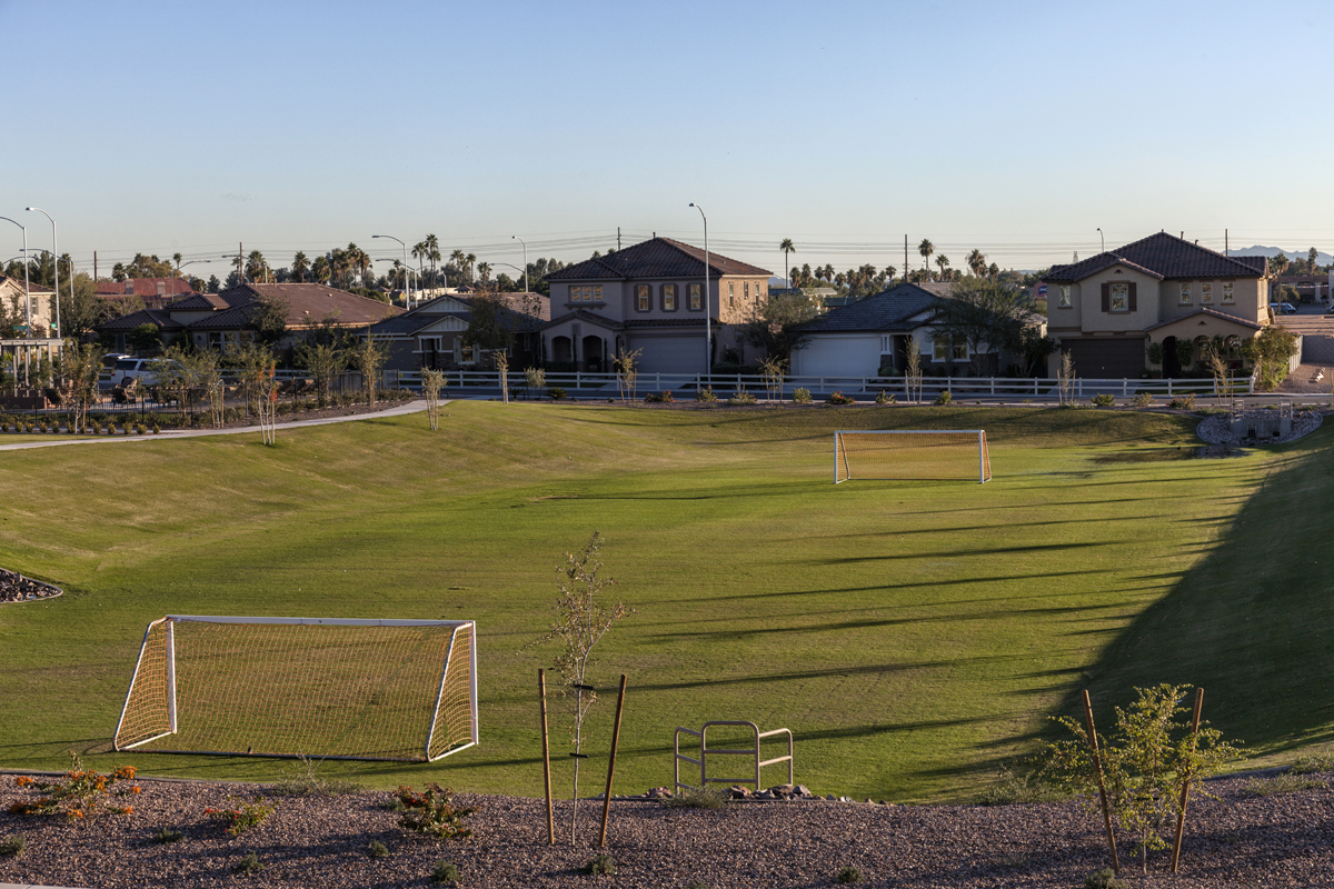 Soccer field at a KB Home community in Mesa, AZ