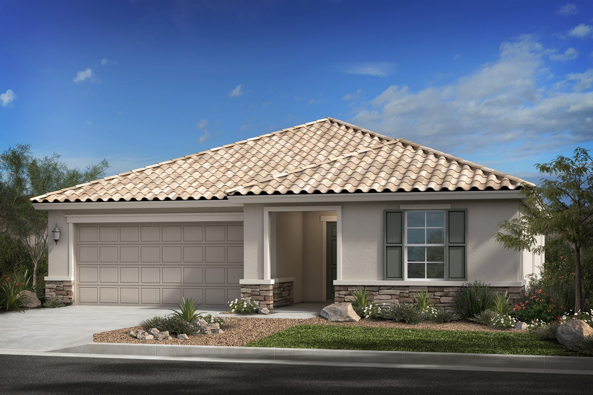 New Homes in Surprise, AZ - Cortana at Desert Oasis Plan 1621 Elevation B (with stone)