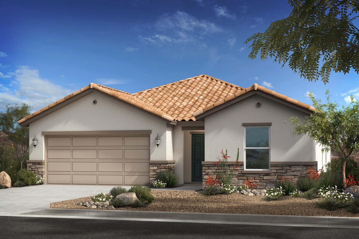 New Homes in Surprise, AZ - Plan 1888 Elevation A (with stone)