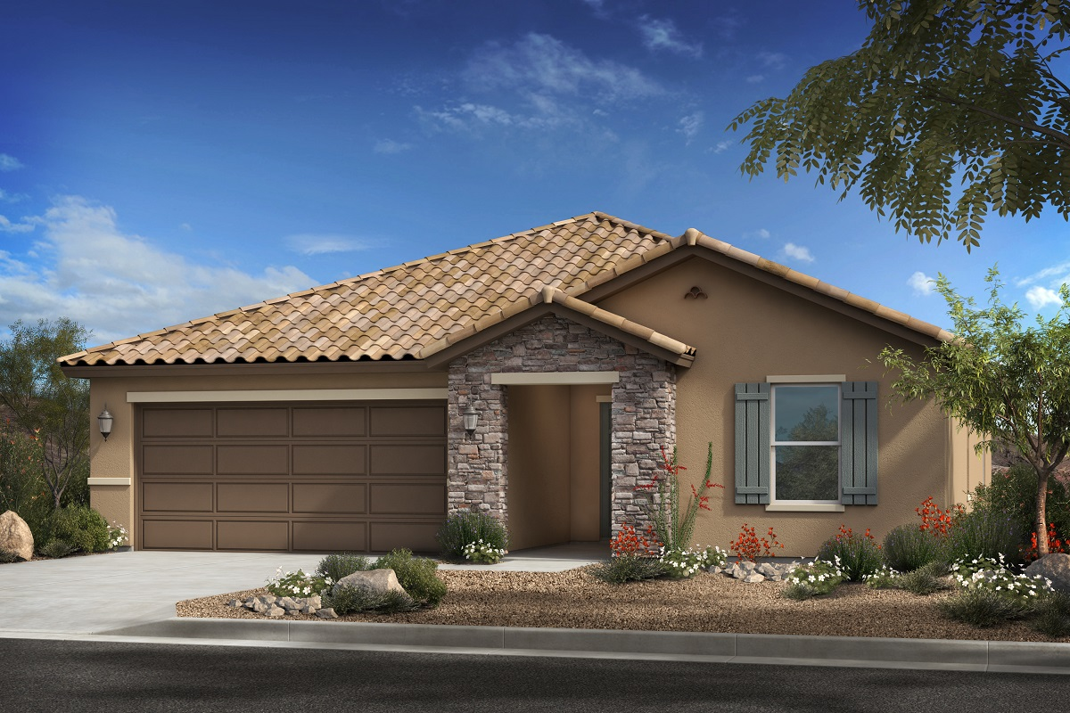 New Homes in Surprise, AZ - Plan 2188 Elevation A (with stone)