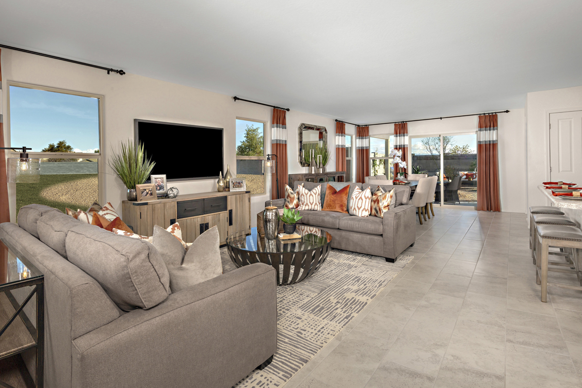 New Homes in Florence, AZ - Crestfield Manor Plan 1849 Great Room