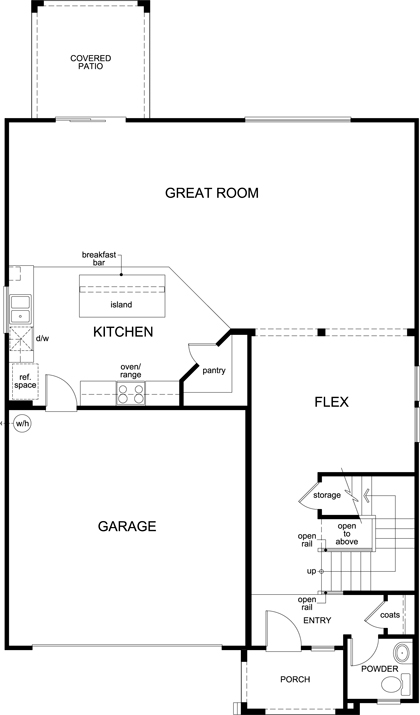 New Homes in Buckeye, AZ - Plan 2541, First Floor