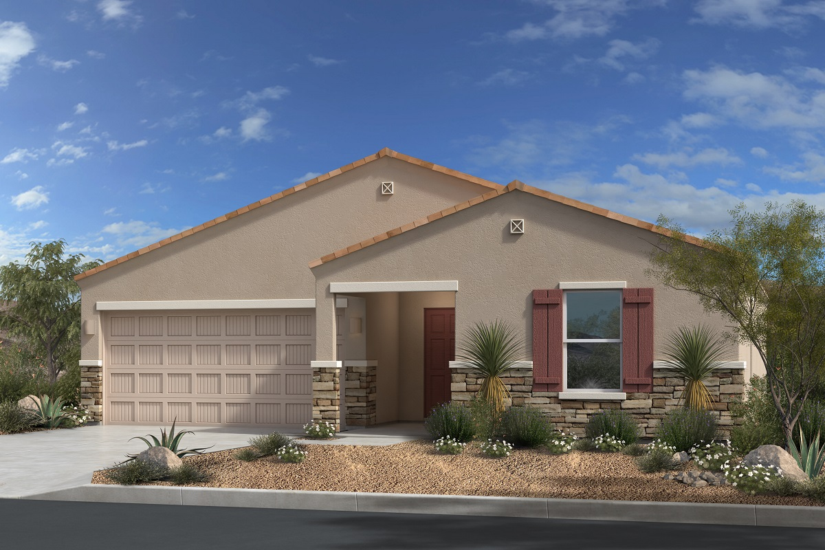 New Homes in Gold Canyon, AZ - Elevation C with optional stone