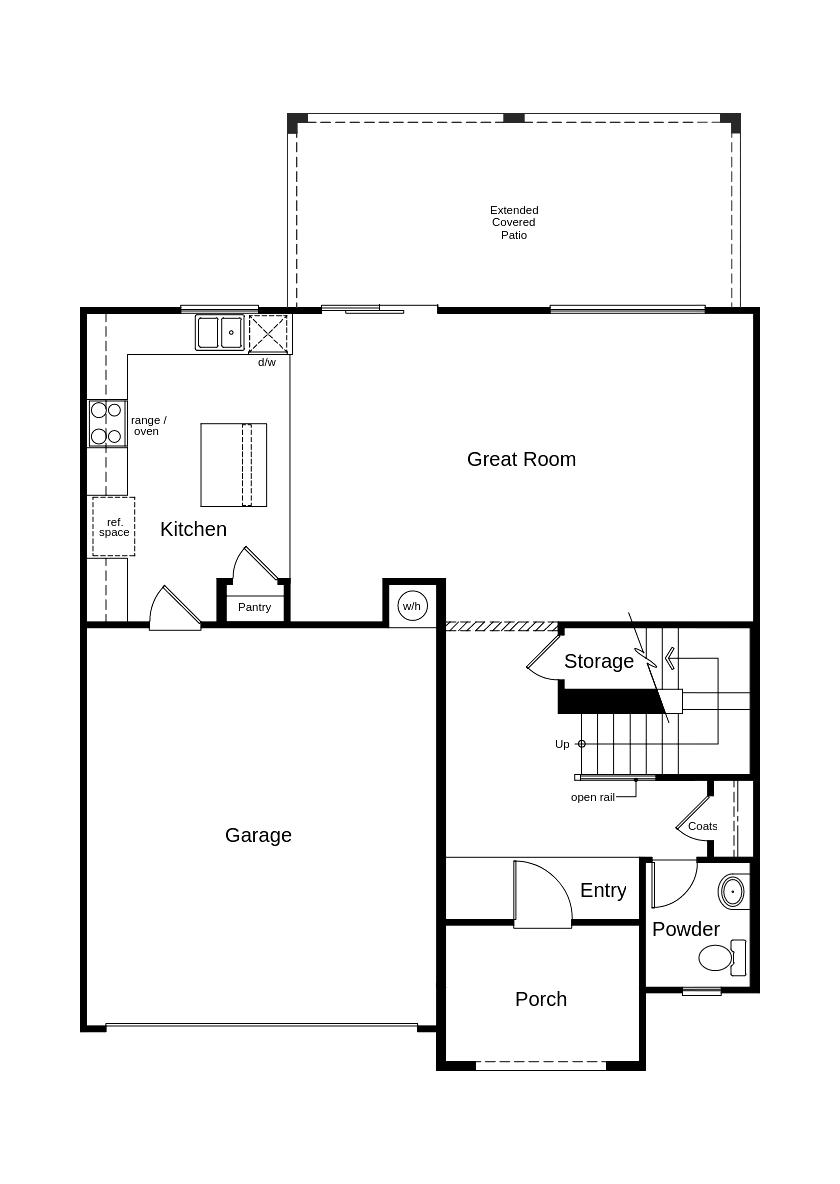 New Homes in Coolidge, AZ - Homesite 1229 - 230 N. 15th St., Coolidge AZ, First Floor
