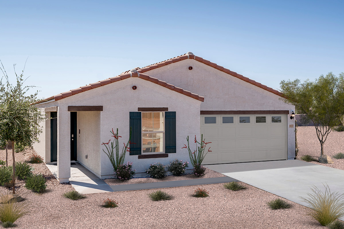 New Homes in Coolidge, AZ - Heartland Ranch Plan 1591 Elevation A