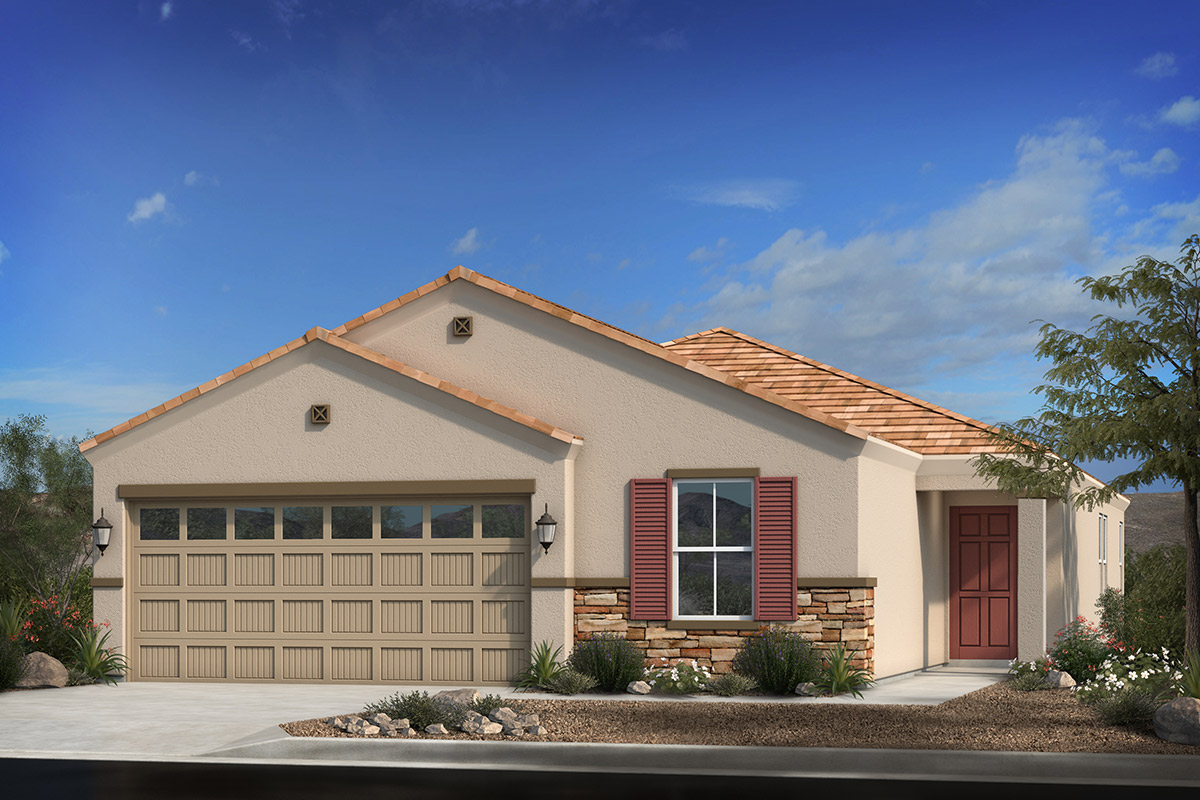 New Homes in Coolidge, AZ - Elevation C with Optional Stone