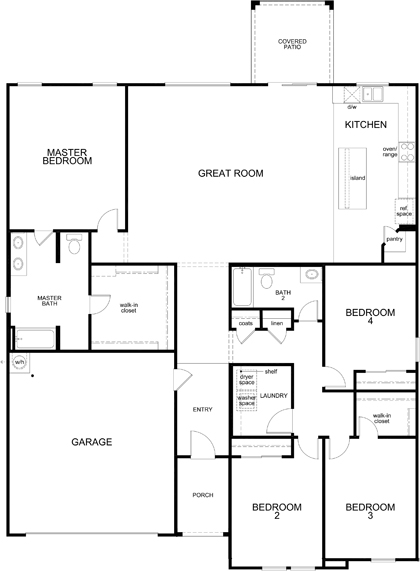New Homes in Maricopa, AZ - Plan 2301, First Floor