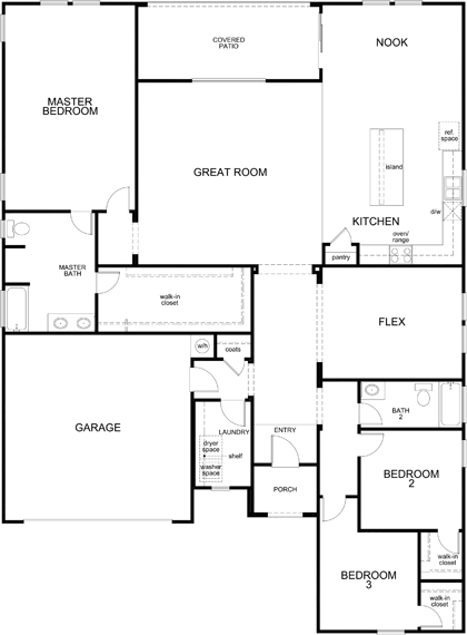 New Homes in Maricopa, AZ - Plan 2347, First Floor