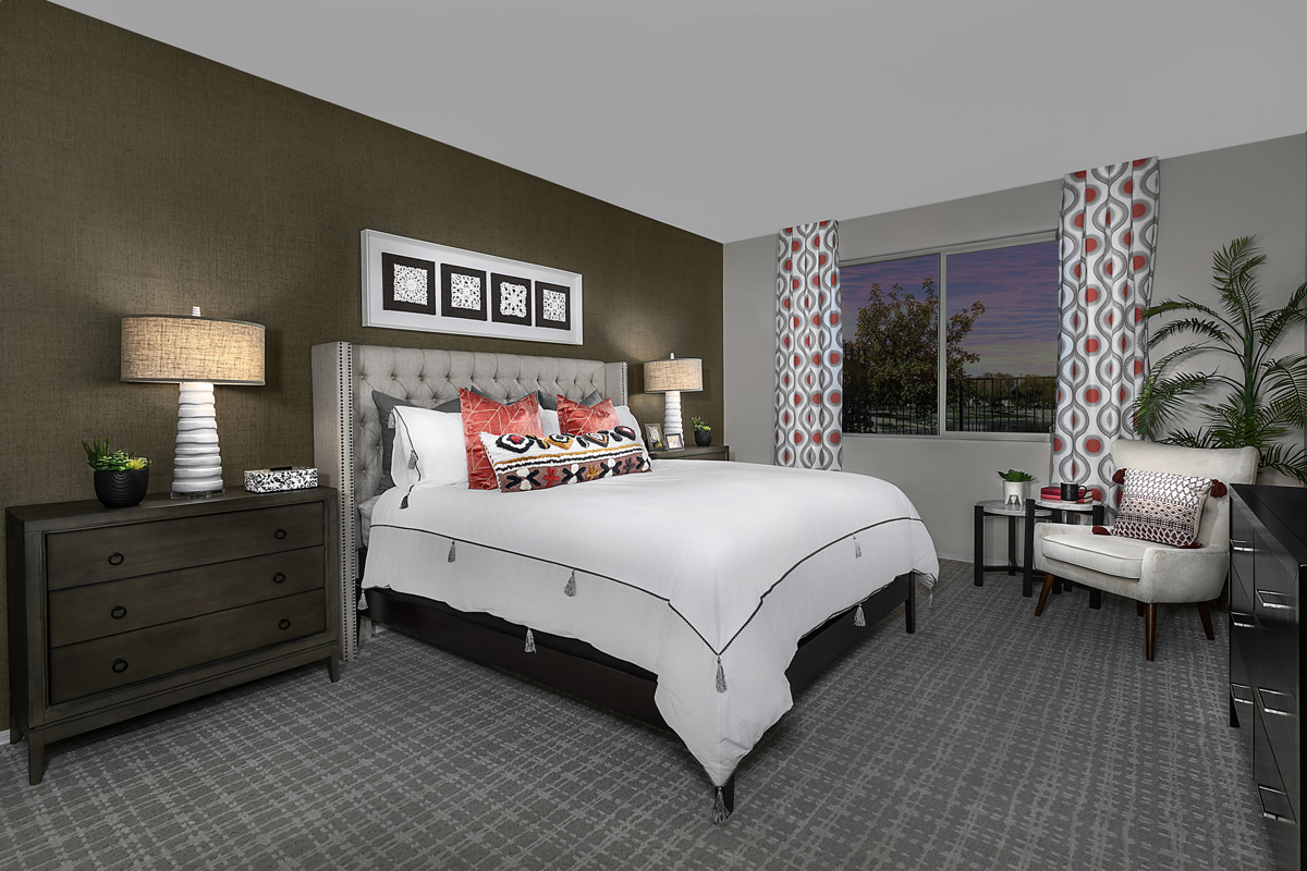 New Homes in Gilbert, AZ - Layton Lakes Plan 2046 Master Bedroom
