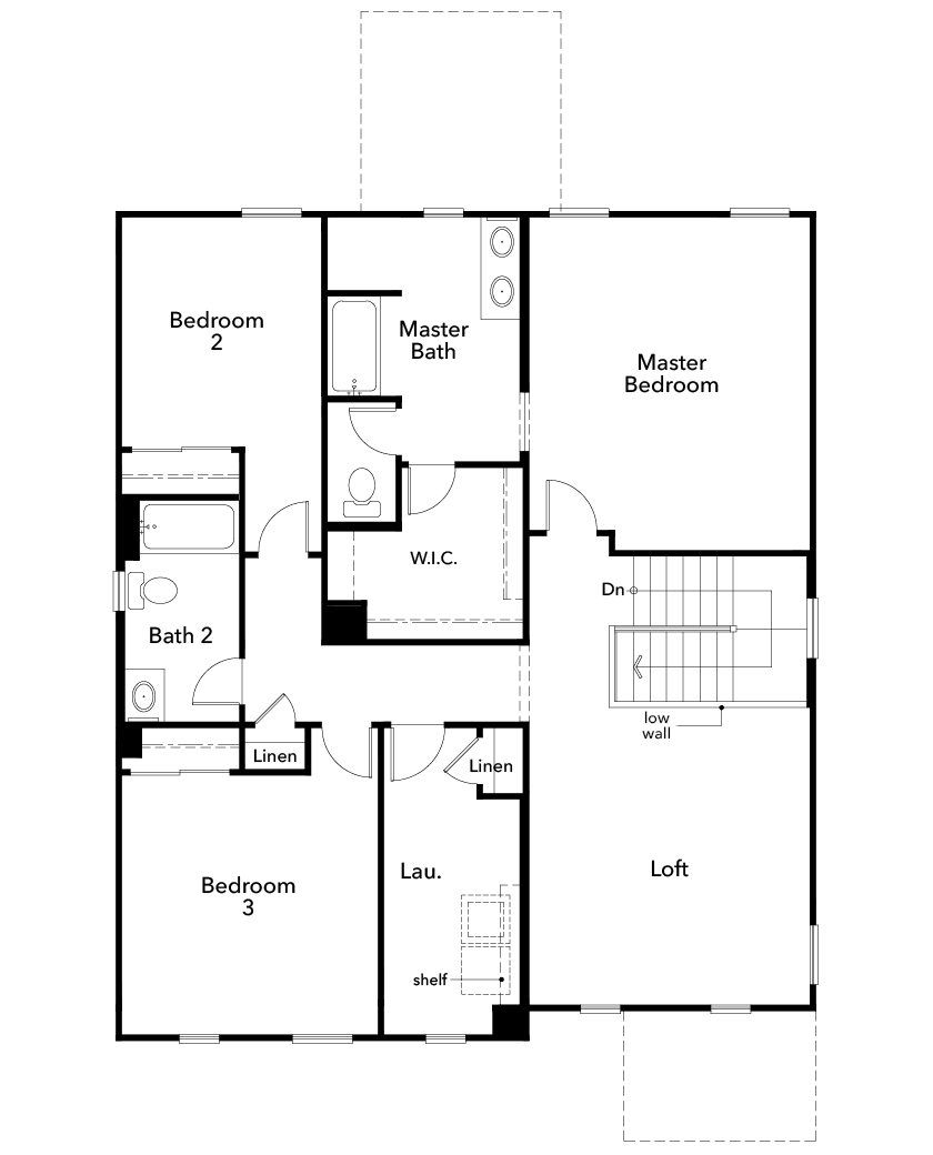 New Homes in Avondale, AZ - Plan 2380, Second Floor