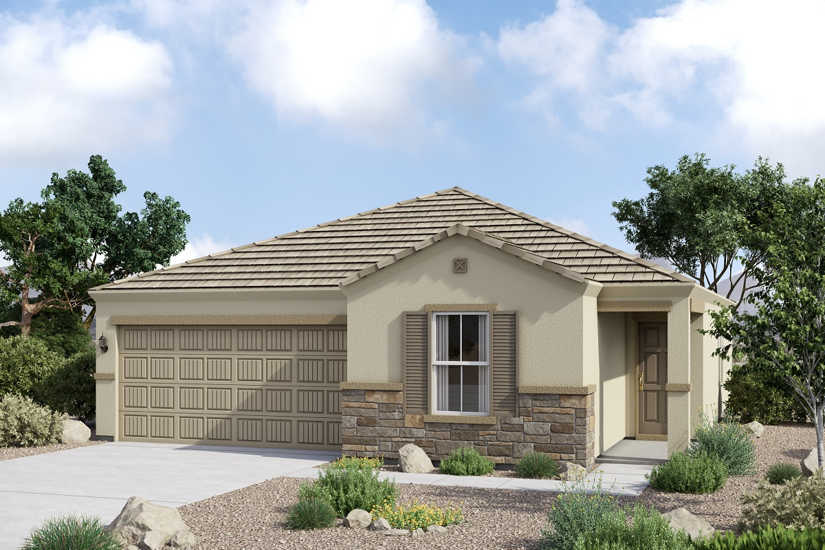 New Homes in Glendale, AZ - Marbella Ranch Plan 1591 Tuscan 'C'  (With Stone)
