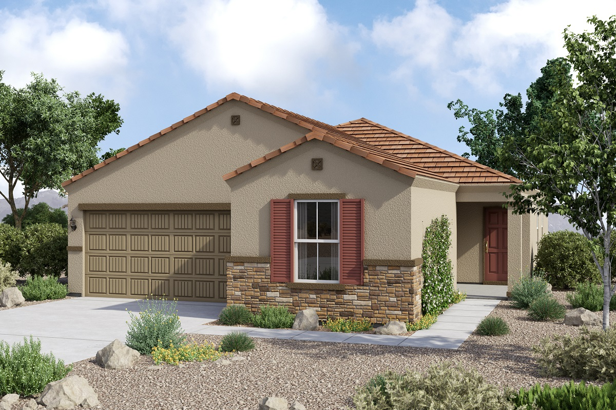 New Homes in Glendale, AZ - Plan 1859 Tuscan 'C'  (With Stone)