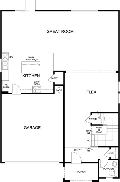 New Homes in Glendale, AZ - Plan 2575, First Floor