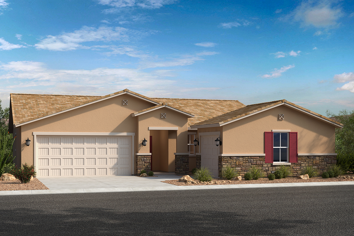 New Homes in Avondale, AZ - Elevation C with swing garage