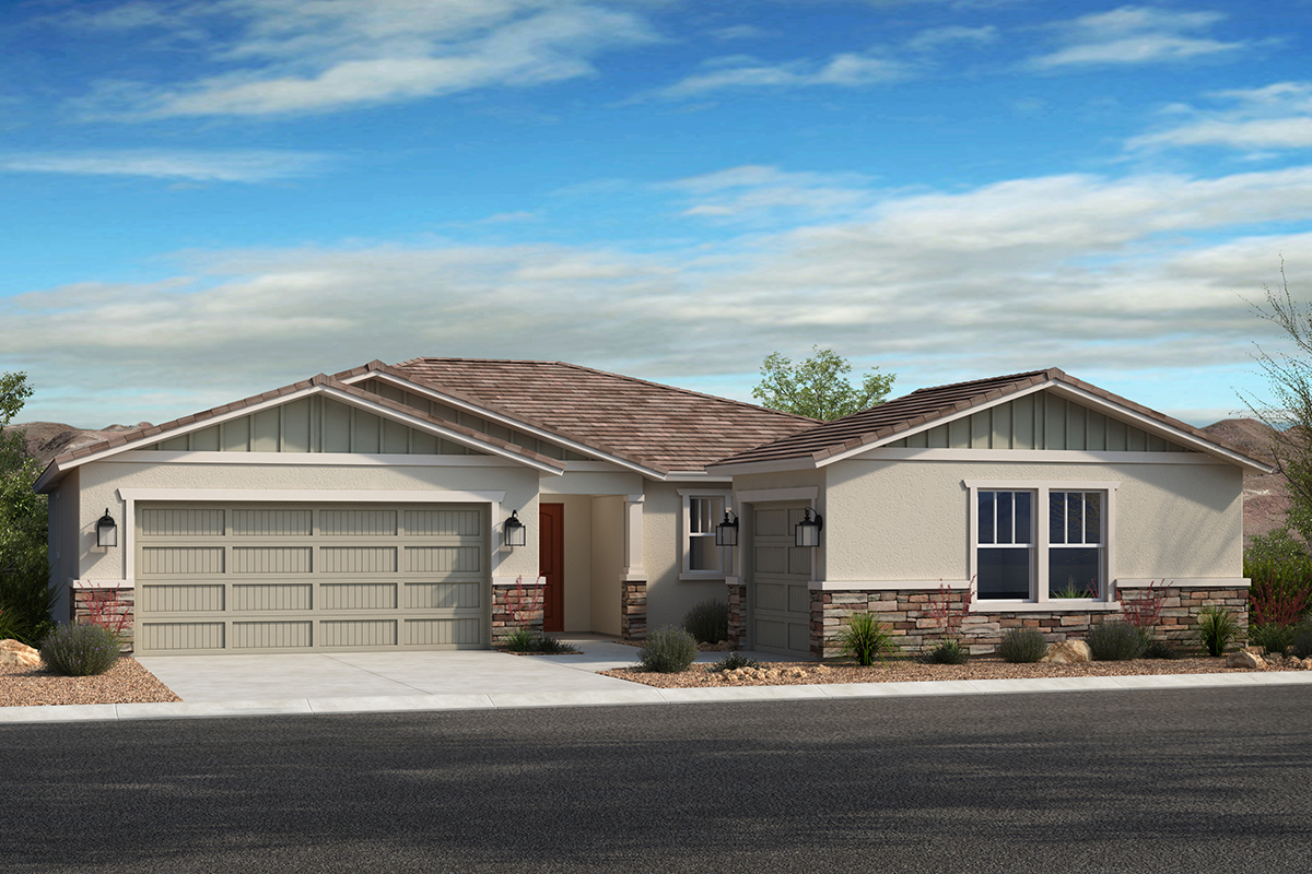 New Homes in Avondale, AZ - Elevation D with swing garage