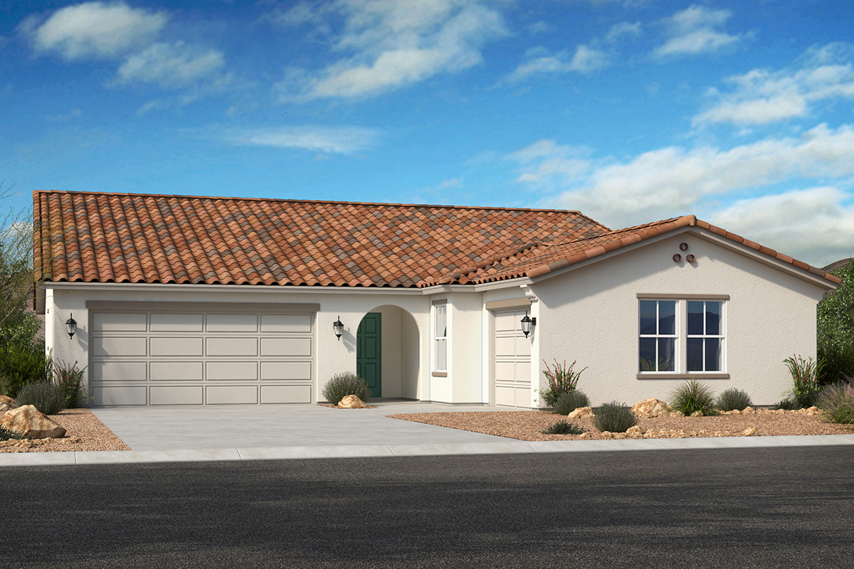 New Homes in Avondale, AZ - Elevation A with swing garage