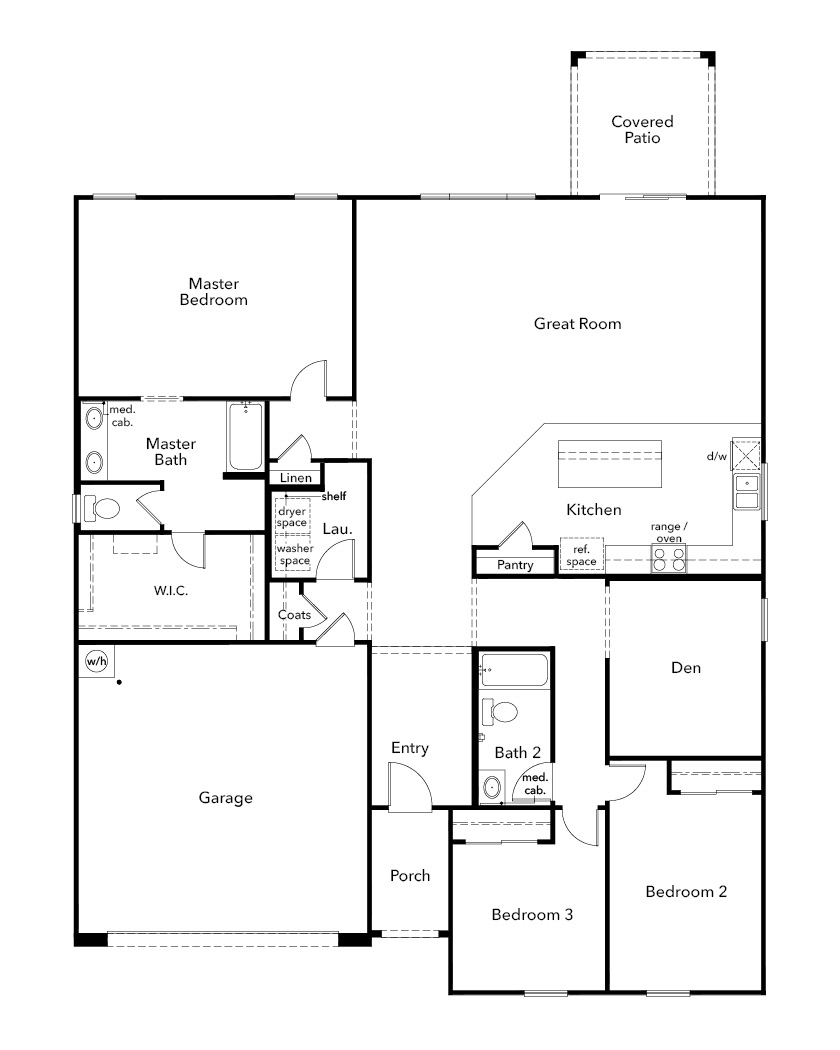 New Homes in Avondale, AZ - Plan 2096, First Floor