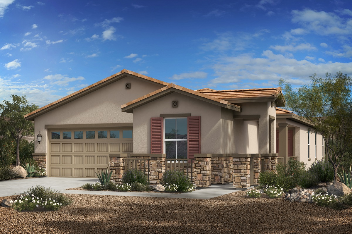 New Homes in Phoenix, AZ - Plan 1841 Elevation C (With Stone)