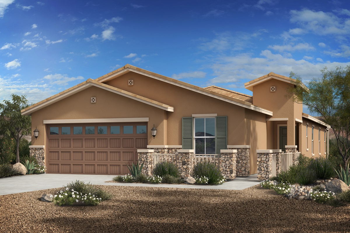 New Homes in Phoenix, AZ - Park Meadows II Plan 1953 Elevation C (With Stone)