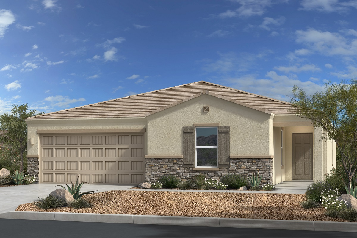 New Homes in Gold Canyon, AZ - Plan 1994 Elevation C (with Stone)
