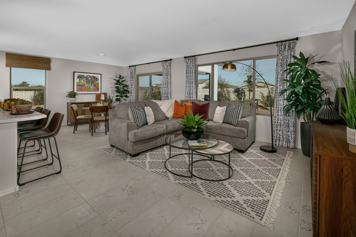 New Homes in Phoenix, AZ - Santolina at South Mountain Plan 1765 Great Room